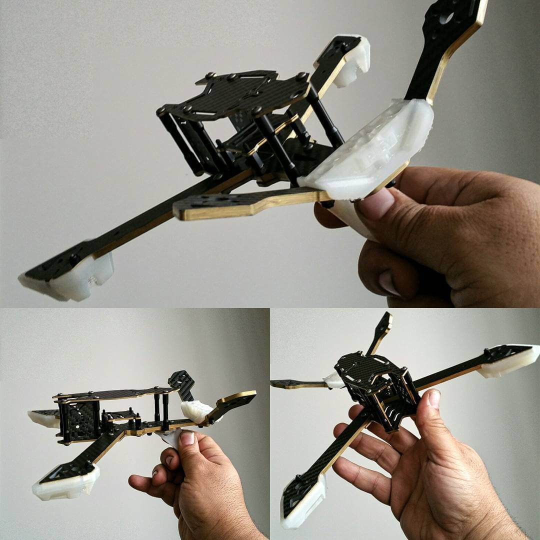 3D printed parts for quadcopter drone