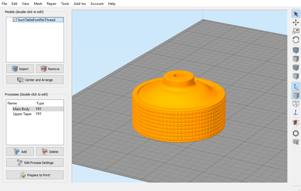 The First Layer: Turntable Pt  2, Advanced Print Settings | Makeit, Inc