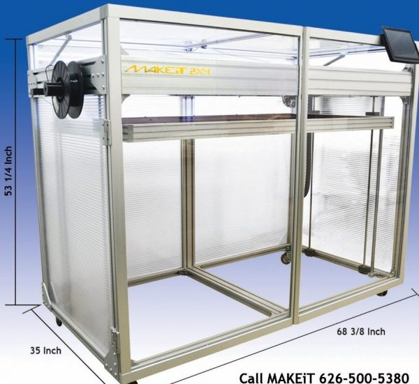 Makeit 2x4 large format 3d printer